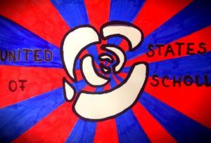 Dies ist die offizielle Flagge von United States of Scholl
